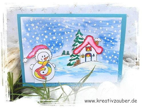 stempelkarte im winter