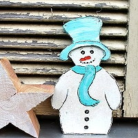 Schneemann Vorlage zum Basteln und Gestalten