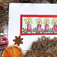 Karten mit einem Weihnachtsstempel gestalten