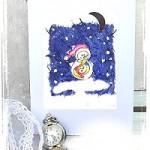 Kreative Stempelkarten im Winter