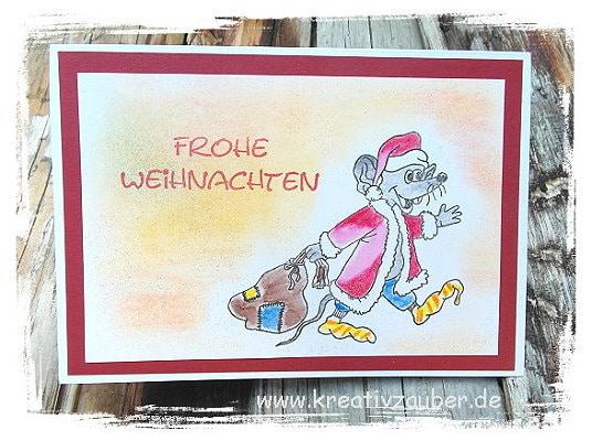 weihnachtskarte stempeln