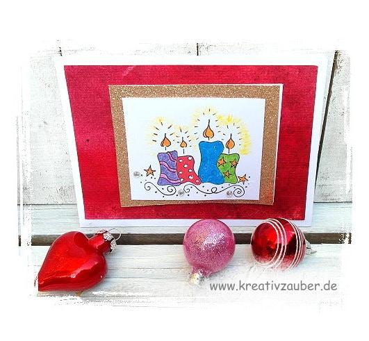 weihnachtskerzen weihnachtskarte