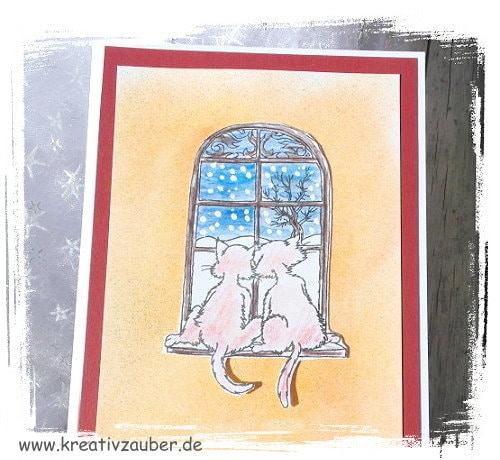 winterkatzen motivstempel