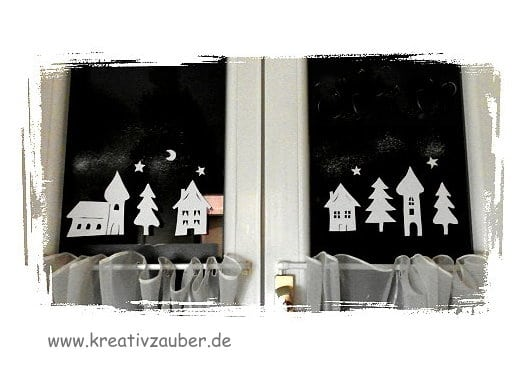 fensterdeko im winter anleitung und vorlage. Black Bedroom Furniture Sets. Home Design Ideas