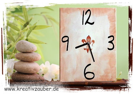 Keilrahmen Uhr