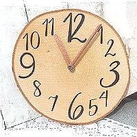 Baumscheiben Uhren basteln
