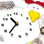 Huhn – Uhr basteln in der Osterzeit