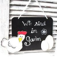 Osterbasteln: Huhn mit Ei (inkl. Vorlage)