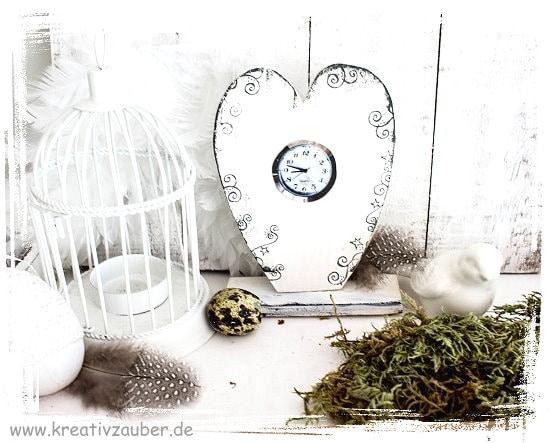 Vintage Uhr basteln kreativzauber