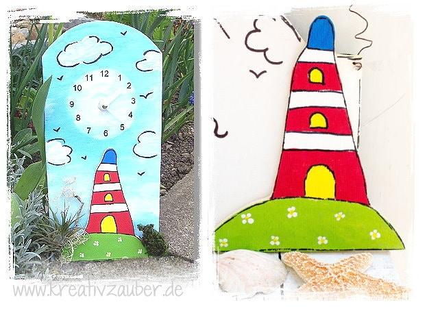 Leuchtturm Bastelvorlage