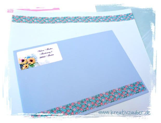 Briefpapier und Adressaufkleber kreativ gestalten