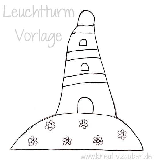 Leuchtturm bastelvorlage kreativzauber for Leuchtturm basteln