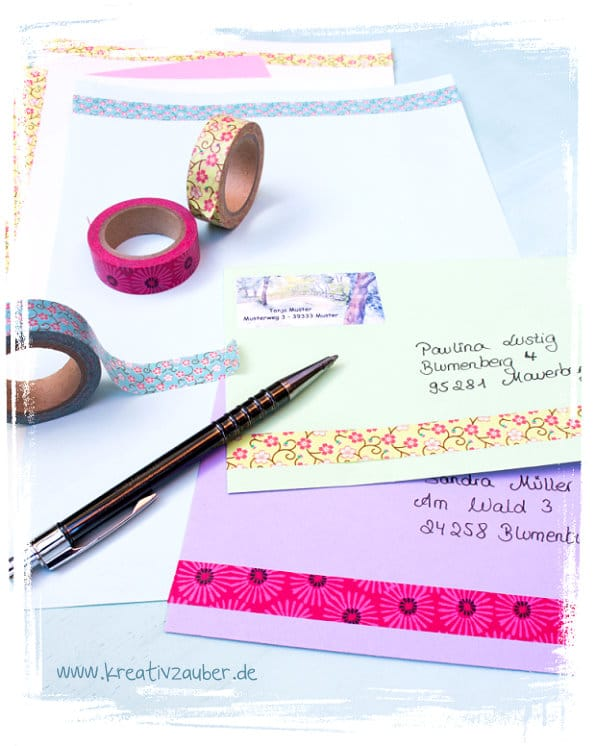 Briefpapier Gestalten : Briefpapier und passende umschläge kreativ gestalten