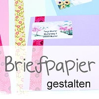 Briefpapier und Umschläge gestalten