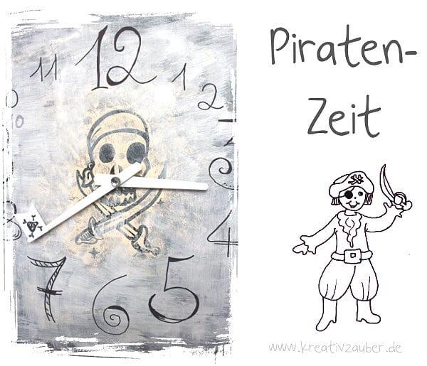 pirat basteln uhr