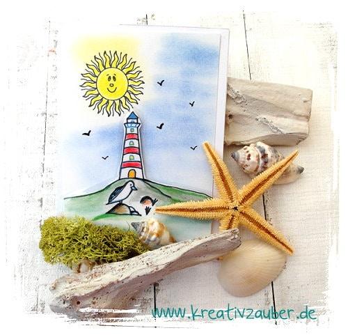 Sommerpost basteln leuchtturm kreativzauber