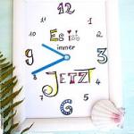 Lettering Clock