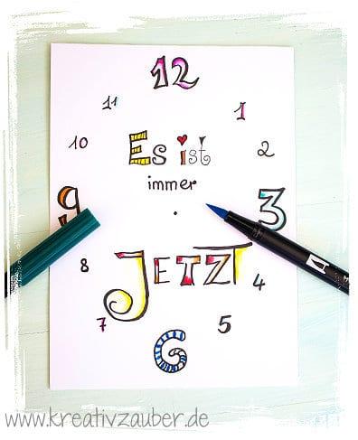 lettering-uhr-colorieren