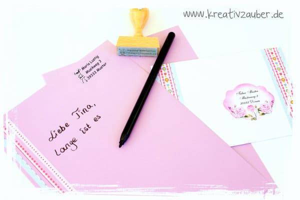 schreibset basteln Briefpapier