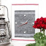 Hüttenzauber – Alpenstyle Uhr aus Filz