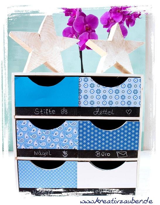 schubladenbox dekorieren gestalten