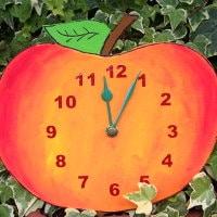 Apfeluhr Vorlage zum Selberbasteln