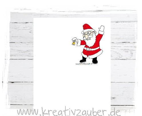 Briefpapier Weihnachtsmann gratis