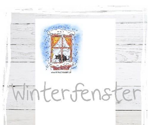 Briefpapier Winterfenster gratis
