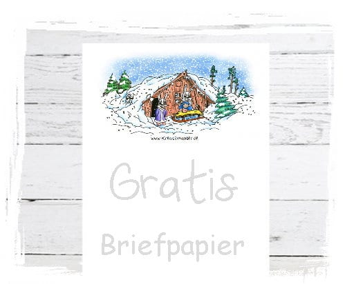 Briefpapier gratis Weihnachten