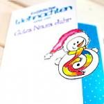"""Weihnachtskarte """"Schneemann"""""""