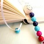 Lesezeichen selber machen mit Perlen
