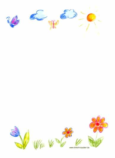 Briefpapier zum Ausdrucken   Kreativzauber® ☆ Bastelblog mit