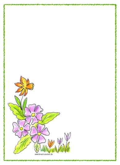 Briefpapier zum ausdrucken kreativzauber bastelblog mit vielen vorlagen anleitungen und ideen - Briefpapier vorlagen kostenlos ...