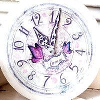 Decoupage – Uhr