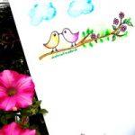 Vögelchen Briefpapier kostenlos