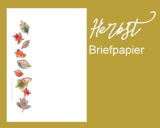 Briefpapier herbst - Briefpapier vorlagen kostenlos ...
