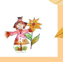 Briefpapier Herbst kostenlos