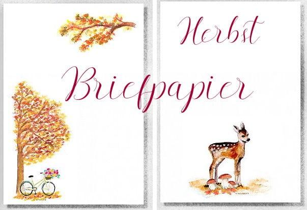 herbstbriefpapier