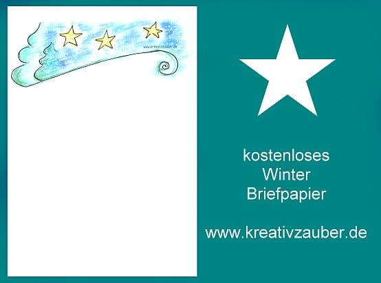kostenloses Briefpapier im Winter