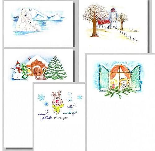 neue briefpapiere winter
