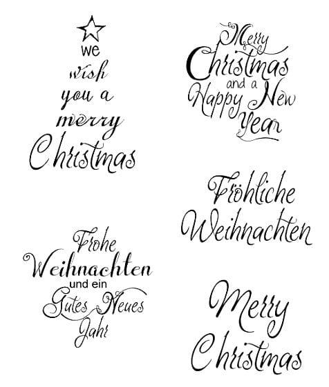 weihnachtliche stempel