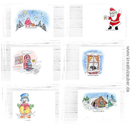 kostenloses Briefpapier zu Weihnachten ausdrucken