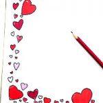 Briefpapier Vorlage Herzen
