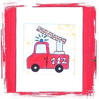 Feuerwehr Karte plus passendes Lesezeichen