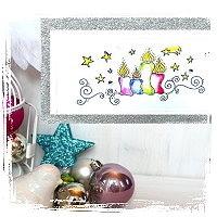 Weihnachtskarte Weihnachtskerzen