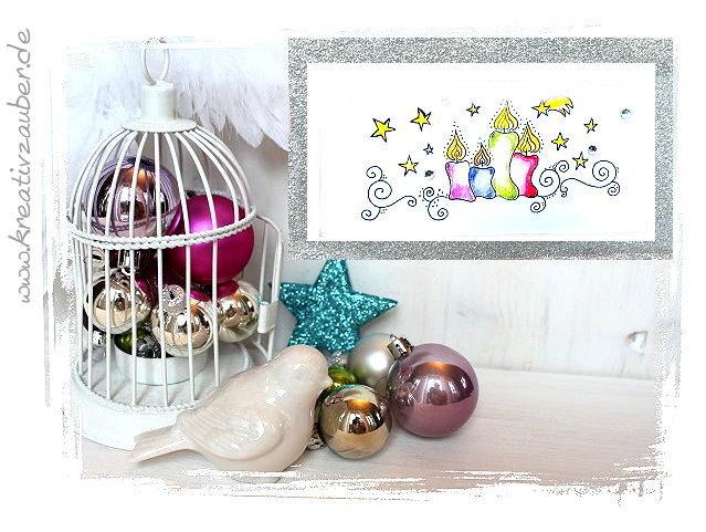 weihnachtskarte basteln mit stempeln