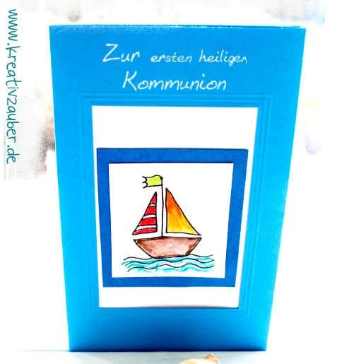 stempel kommunion Schiff Boot
