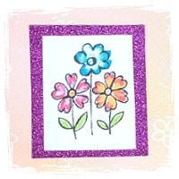 Blumen Kärtchen