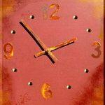 Uhr basteln mit Rost Effekt