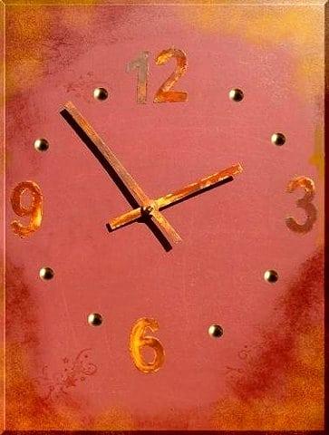 Uhrzeiger basteln vorlage  Uhr basteln mit Rost Effekt - Anleitung im Blog Kreativzauber®